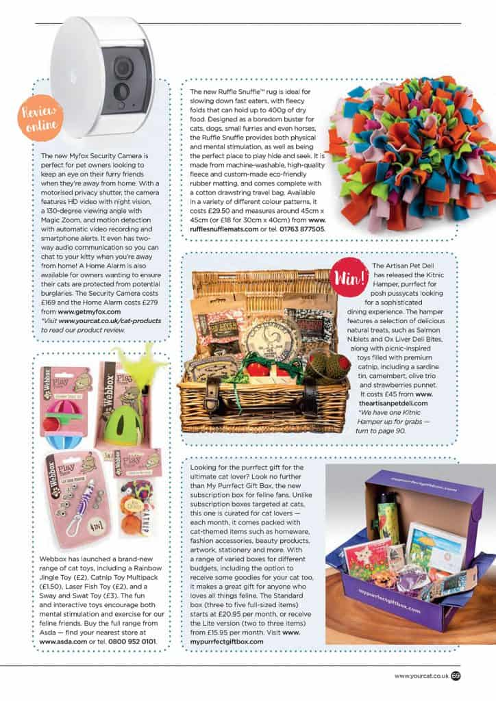 Your Cat Magazine features Ruffle Snuffle