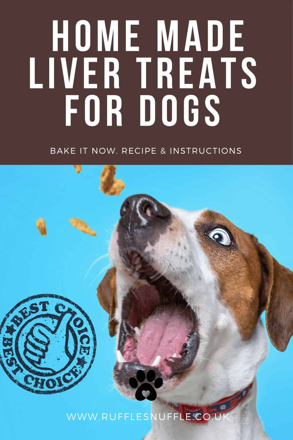 Wheat free liver cake for dogs
